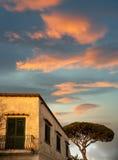 House in Anacapri. Photo of the house in Anacapri on the island of Capri Royalty Free Stock Image
