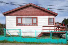 House at Ancud, Chiloe Island, Chile Royalty Free Stock Photography