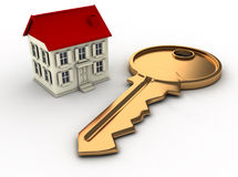 House And Key Royalty Free Stock Photos