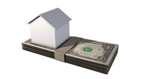House And Money Royalty Free Stock Photos