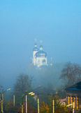 House of angels. Church domes are shown in height above morning city Stock Photo