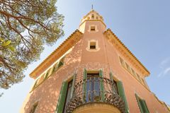 House of Antoni Gaudi and museum in Park Guell Stock Image