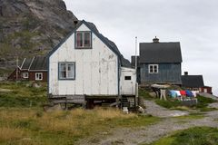 House in Appilatoq, Greenland Royalty Free Stock Image