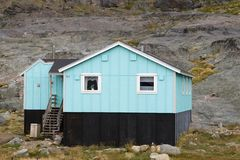 House in Appilatoq, Greenland Stock Image