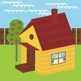 House and apple tree. Nice little house and apple tree Royalty Free Stock Photos