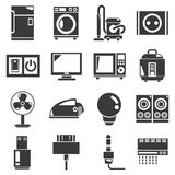 House appliance icons, electronics icons Royalty Free Stock Photo