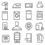 House Appliances Black White Icons Set Royalty Free Stock Photos