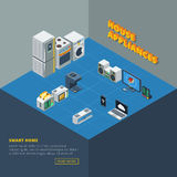 House Appliances Set Isometric Stock Image