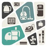 House appliances theme background Stock Photos