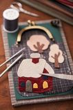 House is applique detail and applique tools for fabric Stock Photos