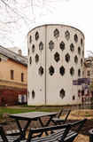 House of architect Melnikov in Moscow, Russia. Moscow, Russia - April 26, 2016: Rear view of the House of architect and painter K.Melnikov. The house was his own Stock Photos