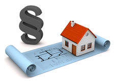 House Architectural Drawing Paragraph Stock Photo
