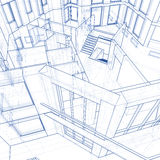 House - architecture blueprint Stock Photography