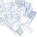House - architecture blueprint Royalty Free Stock Image