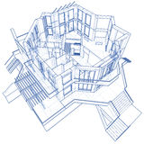 House - architecture blueprint Royalty Free Stock Photos