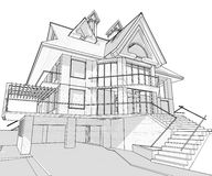 House - architecture blueprint Stock Photos