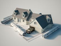 House architecture royalty free illustration