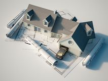 House architecture vector illustration