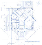 House - architecture plan royalty free illustration