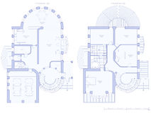House - architecture plan Stock Images