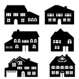 House, architecture and real estate icons Royalty Free Stock Photos