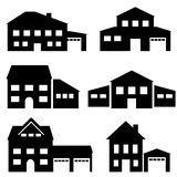House, architecture and real estate icons Stock Image