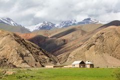 House in arid Tien Shan mountains Royalty Free Stock Image