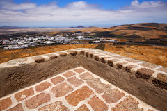 House arrecife  lanzarote  sentry tower and door  in teguise Royalty Free Stock Photos
