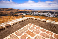 House arrecife  lanzarote  sentry tower  in teguise Royalty Free Stock Image