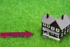 House with arrow Royalty Free Stock Image