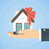 House as a gift. Royalty Free Stock Images