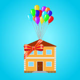 House as a gift tied Royalty Free Stock Photos