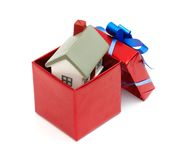 House as a gift for you Royalty Free Stock Photos