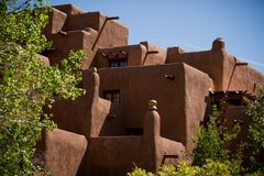 House as seen in Santa Fe royalty free stock image