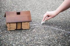 House on asphalt Royalty Free Stock Photography