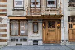 House and Atelier of Victor Horta. Former house and atelier of Victor Horta in Brussels, Belgium royalty free stock images