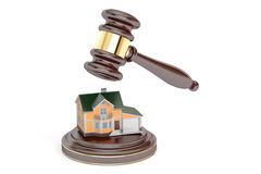 House auction concept, 3D Royalty Free Stock Photo