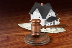 House Auction Stock Photography