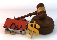 House Auction on white background Royalty Free Stock Images