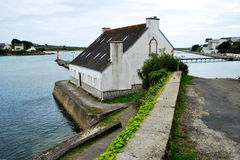 House in Audierne. Audierne town and seashore . Brittany , France Royalty Free Stock Photography
