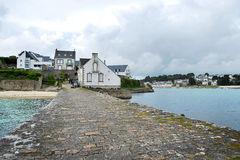 House in Audierne. Audierne town and seashore . Brittany, France Stock Photography