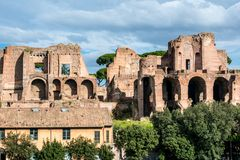 House of Augustus or Domus Augusti Royalty Free Stock Image