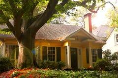 HOUSE IN AUTUMN stock photos