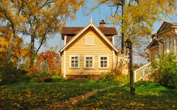 House in the autumn forest Royalty Free Stock Photos
