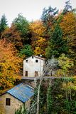 House in Autumn Stock Image