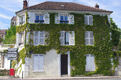 House in Auvers Sur Oise, France Stock Image