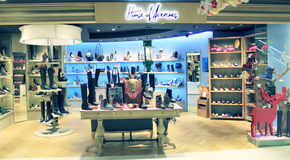 House of Avenues shop in hong kong. House of Avenues, located in Metroplaza, Hong Kong. House of Avenues is a shoes retailer in Hong Kong Stock Images