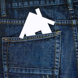 House in a back pocket of a jeans Stock Photo