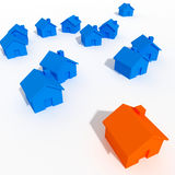 House background. Large image 3d of houses Stock Images