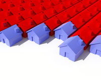 House background. Fine image 3d of model  house background Stock Photos